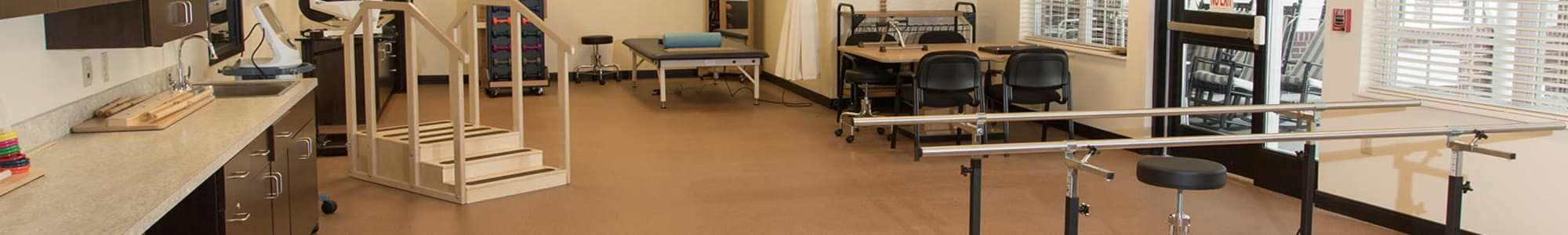 Physical therapy room at Tiffin in Tiffin, Ohio