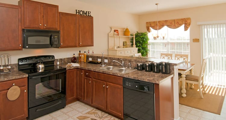 Modern appliances at apartments in Harrisburg