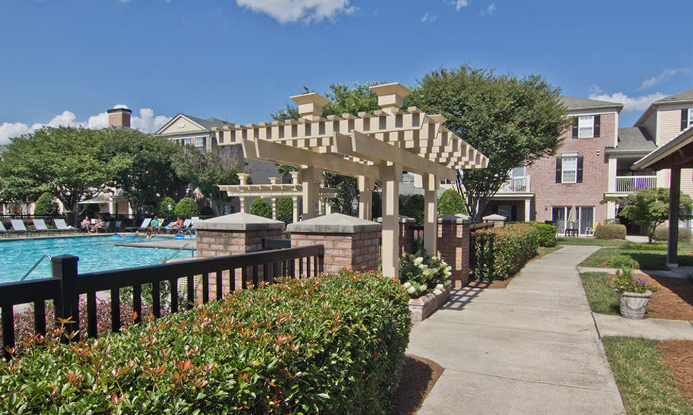 swimming pool at Atkins Circle Apartments