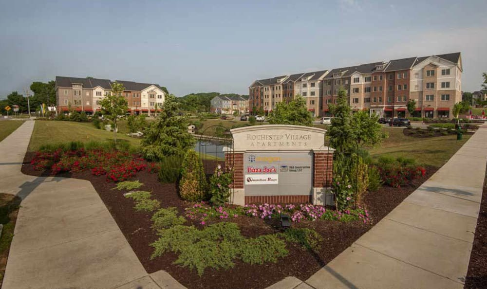 Rochester Village Apartments at Park Place monument sign in Cranberry Township