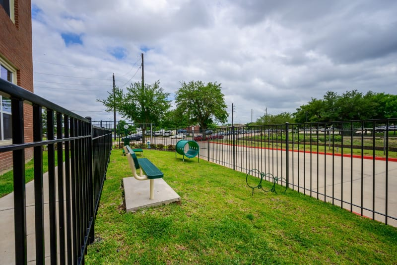 Onsite dog park at Aspire at 610 in Houston, Texas