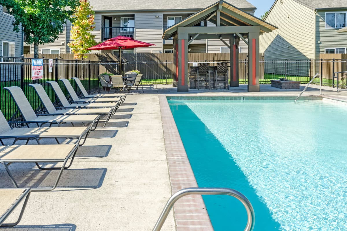 View of the clubhouse at Madison Park Apartments in Vancouver, Washington