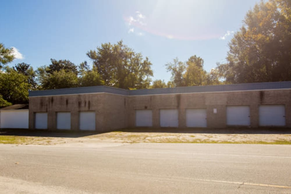 Row of our storage units at StayLock Storage in Camden, South Carolina