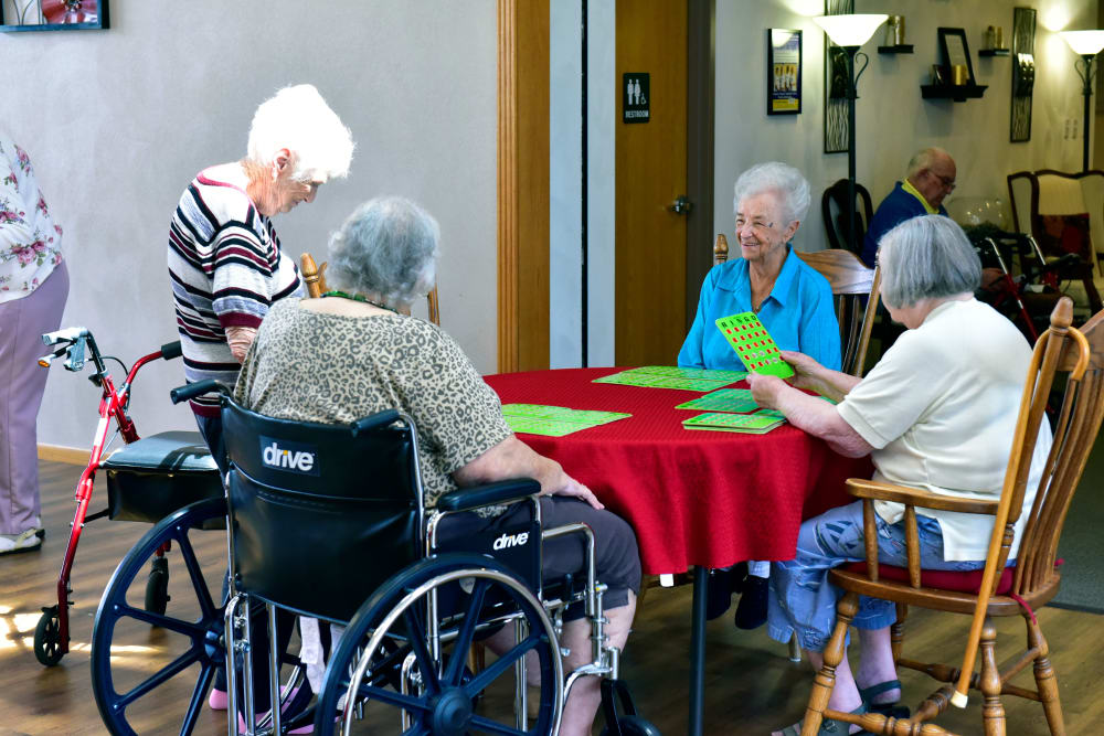 Friends playing games at Garden Place Millstadt in Millstadt, Illinois.