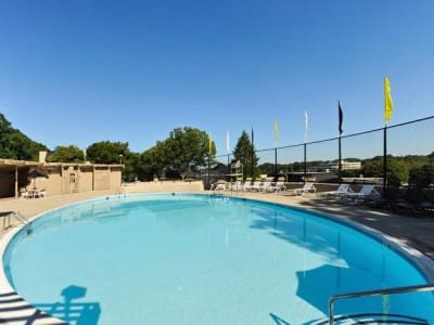 Swimming pool at The Colony at Towson Apartments & Townhomes in Towson, Maryland