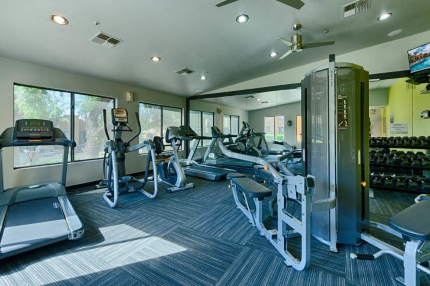 Cabrillo Apartments offer a fitness center in Scottsdale, Arizona
