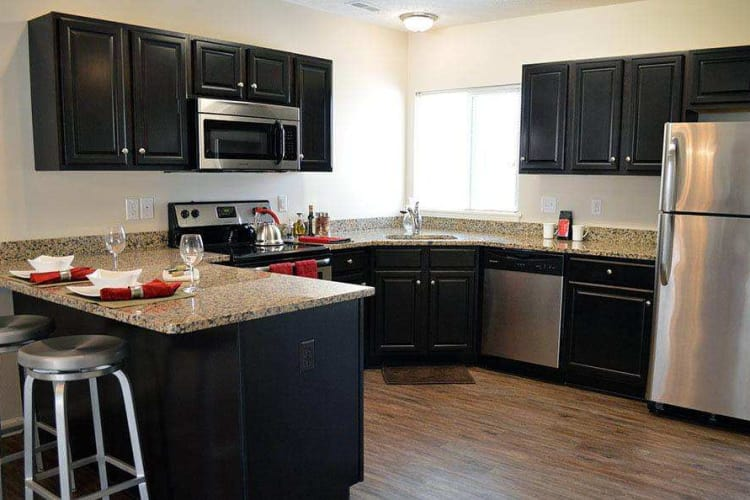 Spacious kitchen at Auburn Creek Apartments in Victor, NY