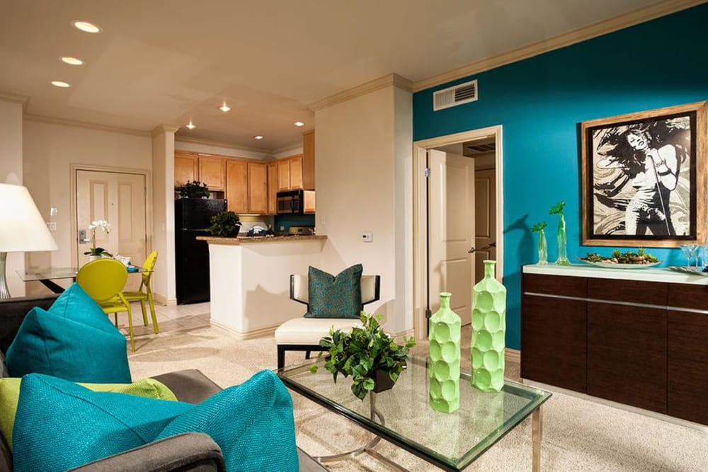Well Decorated Living Room at Avana North Hollywood Apartments in North Hollywood, CA