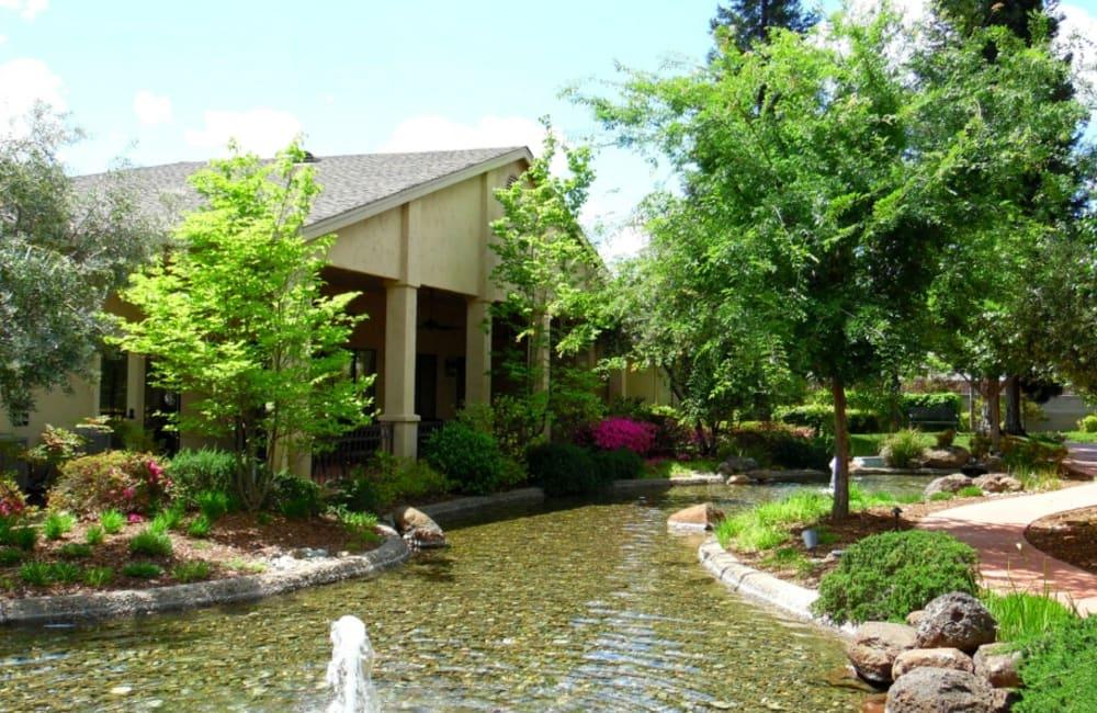 Entrance to Winding Commons Senior Living in Carmichael, California