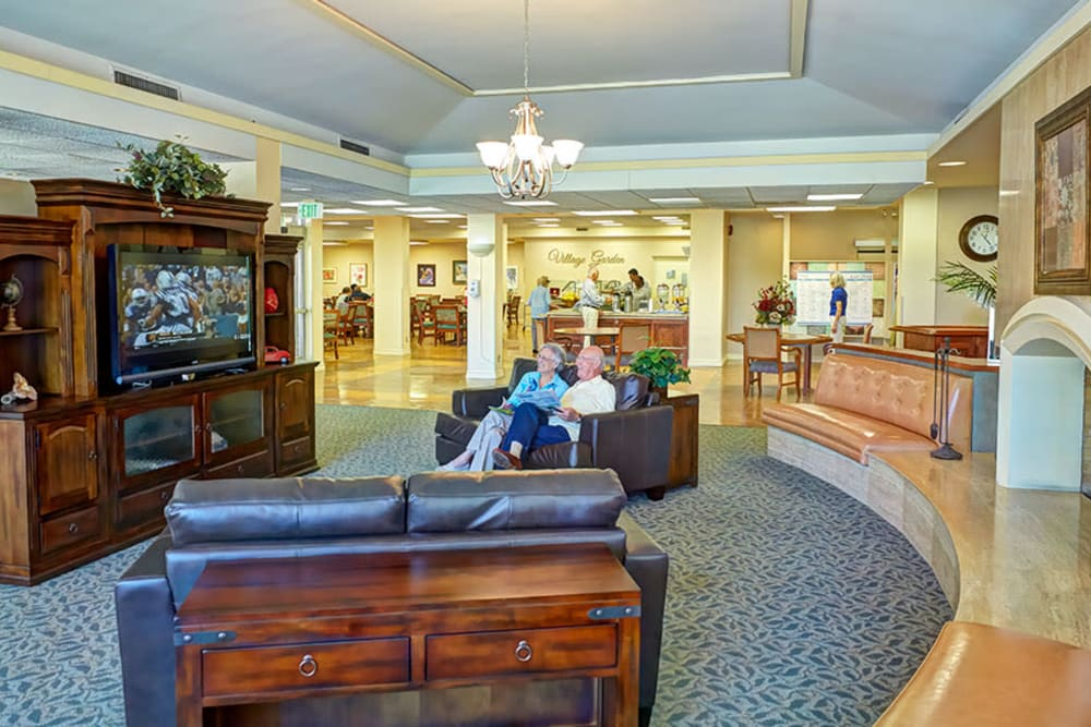 The lounge at Monte Vista Village in Lemon Grove, California