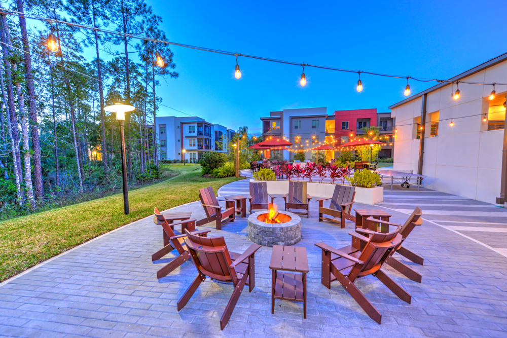 Fire Pit at Luxor Club in Jacksonville, Florida