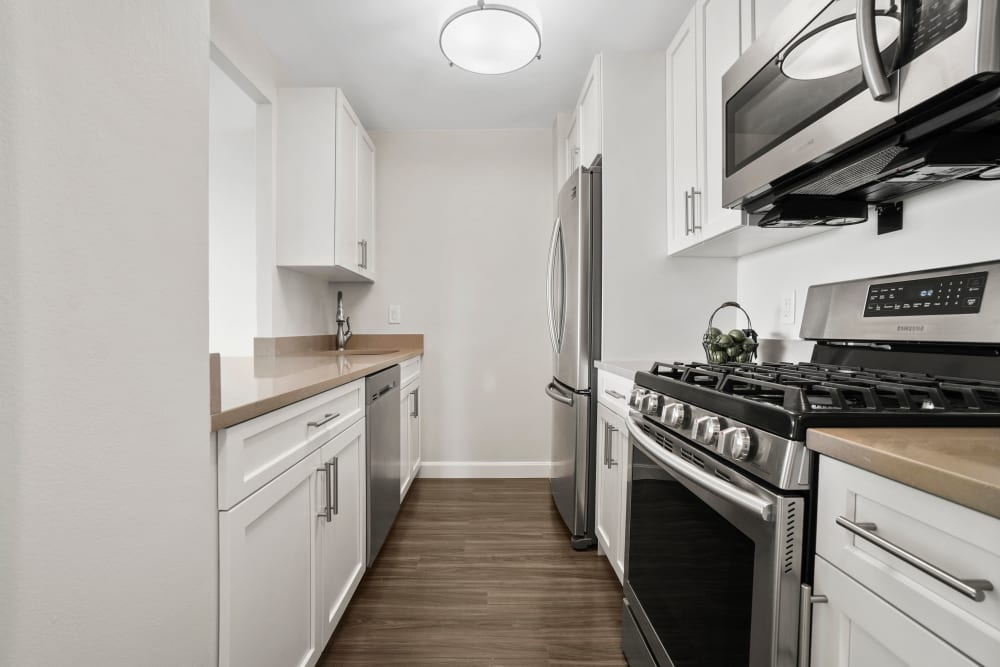 Kitchen at Parkside Place in Cambridge, Massachusetts