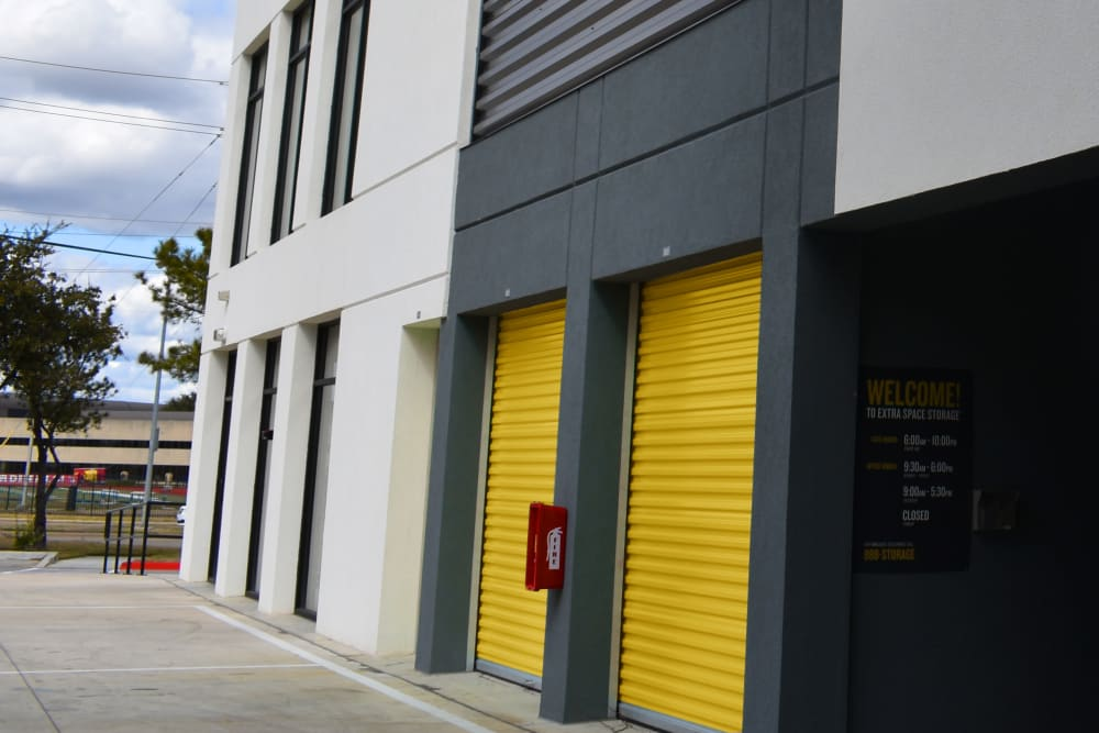 Drive-up storage units at Storage 365 in Plano, Texas
