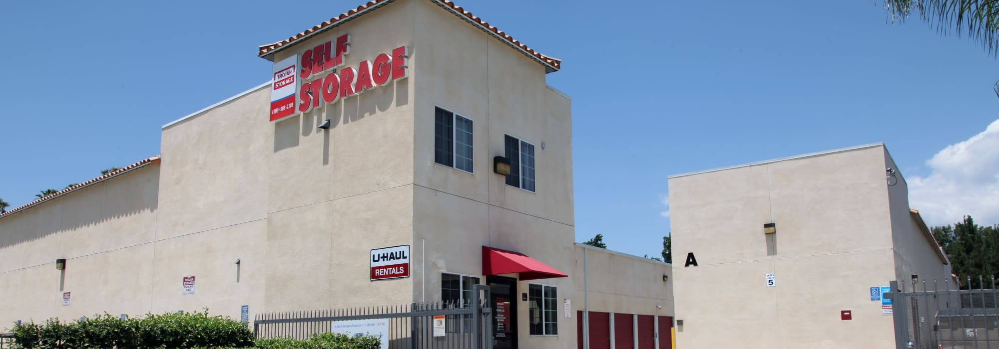 Self storage at Trojan Storage in Ontario California