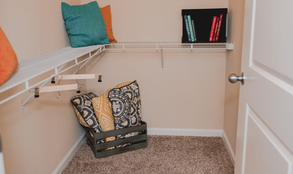 Storage Space In Your Spacious Walk-In Closet at Springs at Creekside in New Braunfels, TX