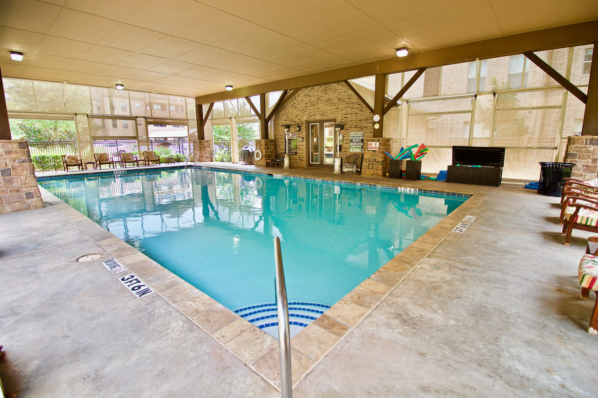 The swimming pool at Watercrest at Mansfield in Mansfield, Texas