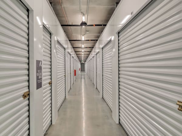 Hallway of units at StorQuest Self Storage in Hawthorne, California