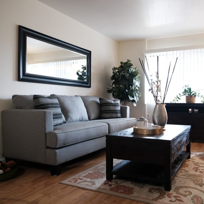 Comfortable living room at The Gardens at Park Balboa