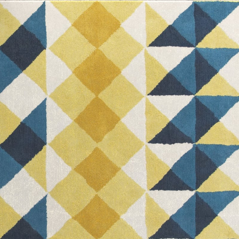 Fun yellow and blue pattern for Civic Lofts in Denver, Colorado