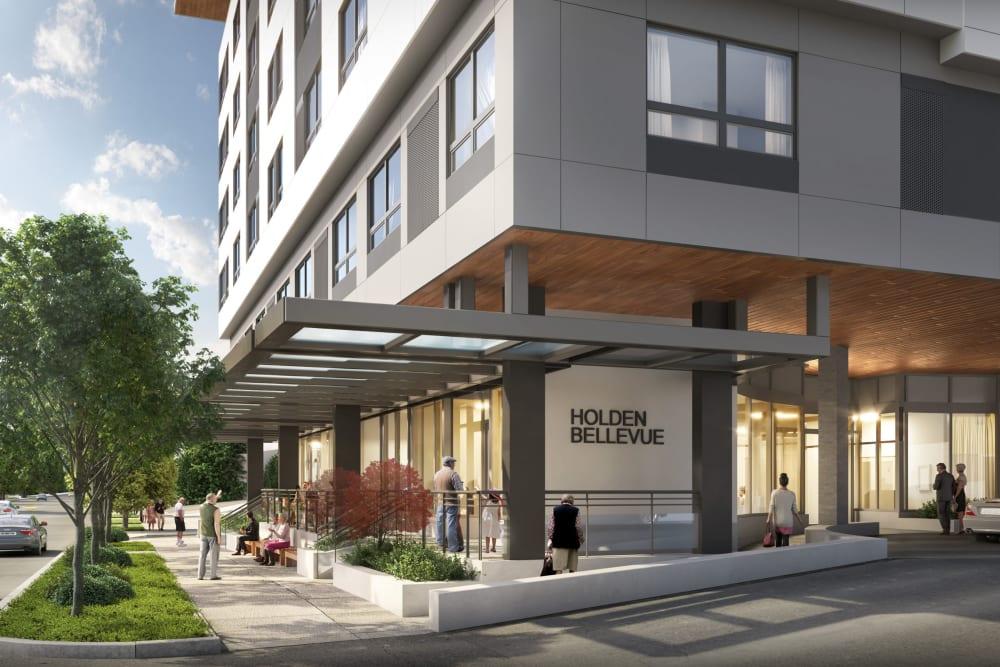 Front entrance at Holden of Bellevue in Bellevue, Washington
