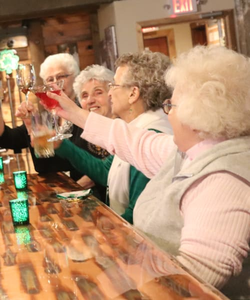 Residents having drinks at The Springs at Butte in Butte, Montana