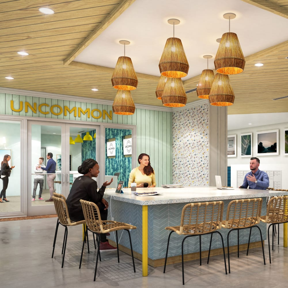 Lobby at UNCOMMON Wilmington in Wilmington, North Carolina