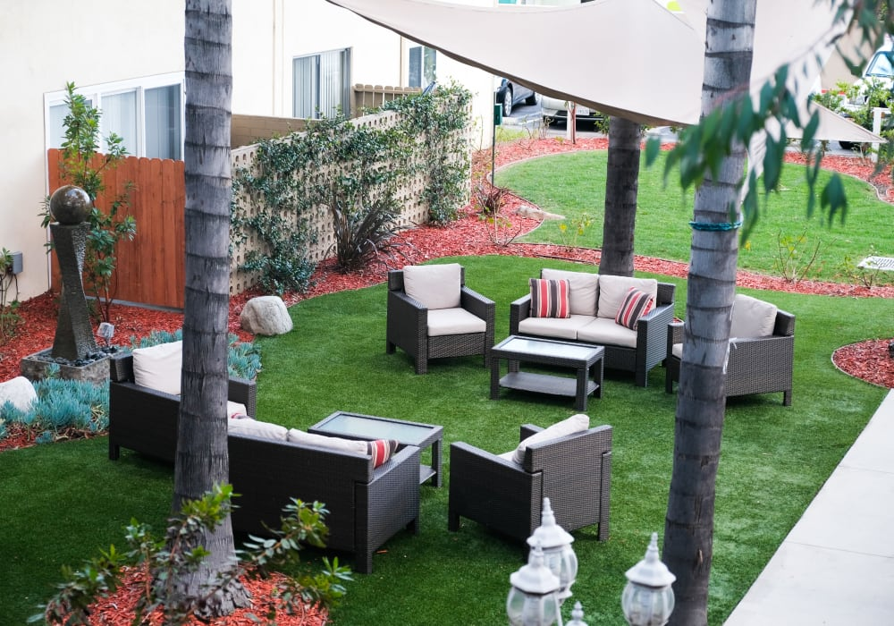 Amenity highlights at The Gardens at Park Balboa in Van Nuys