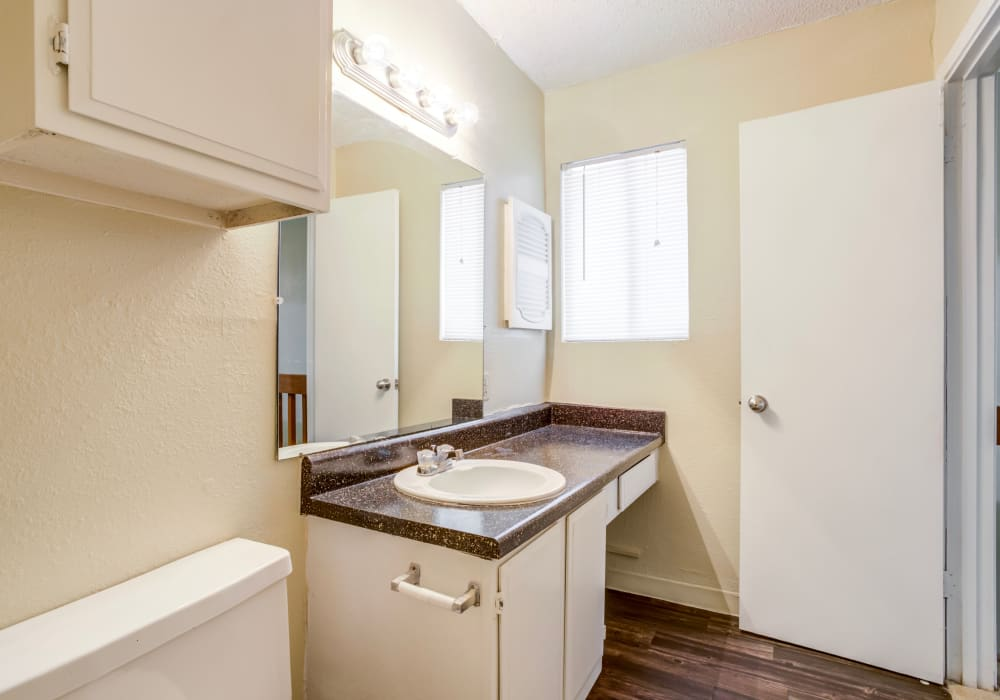 Bathroom at Riverstone Apartments, TX