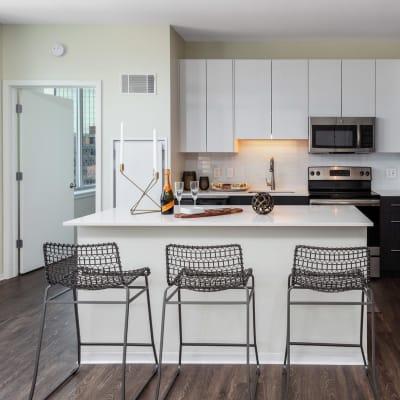 Bright, spacious kitchen at Two Twelve Clayton in Clayton, Missouri