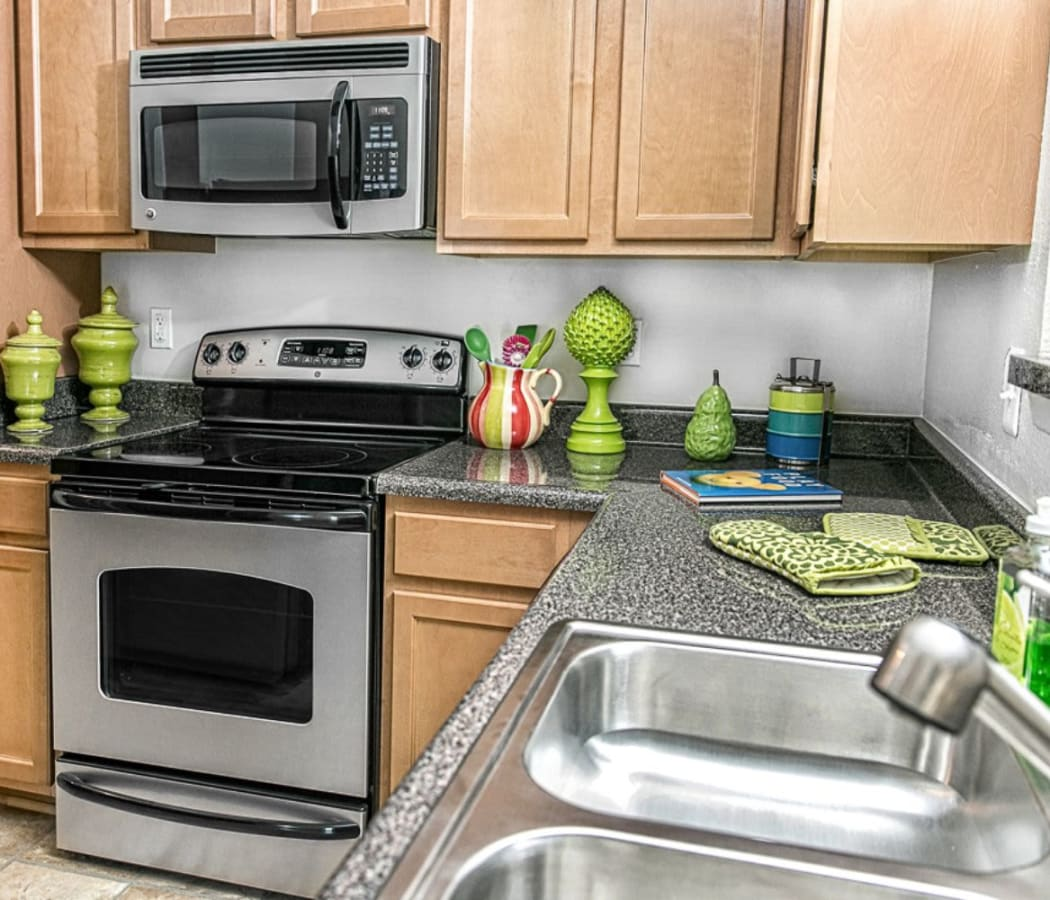 Upgraded kitchen at The Views at Laurel Lakes in Laurel, Maryland