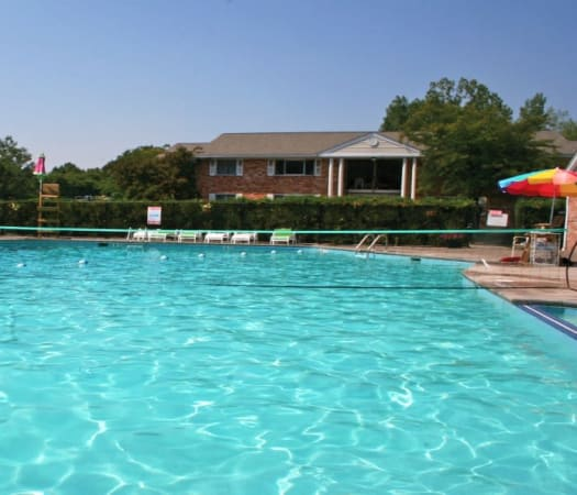 Resort-style swimming pool at Henrietta Highlands in Henrietta, New York