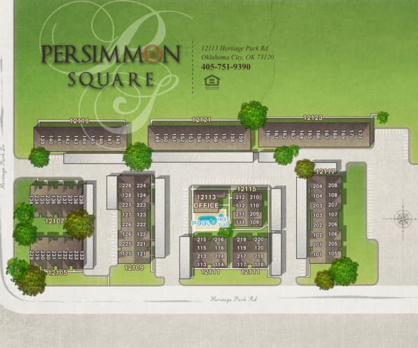 Site map for Persimmon Square Apartments in Oklahoma City, Oklahoma