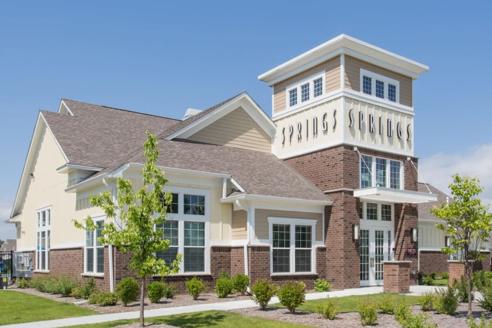 Community Clubhouse with Landscaping at at Springs at Egan Drive in Savage, MN
