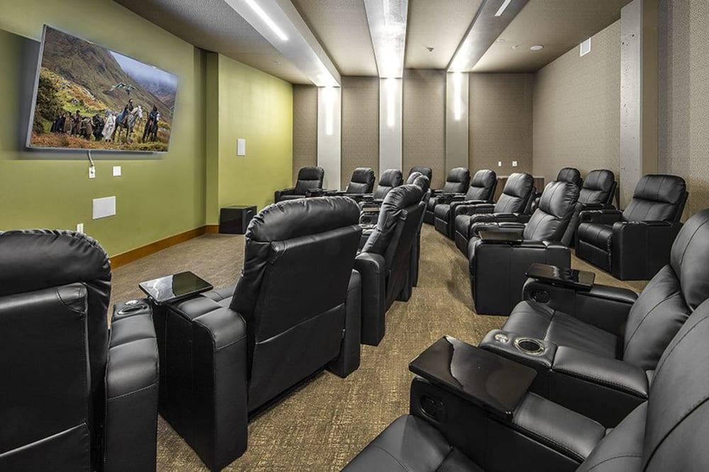 Onsite theater at The Meyden in Bellevue, Washington