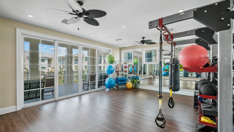 Yoga and fitness studio at Town Lantana in Lantana, Florida