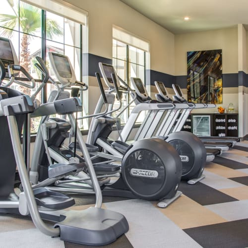 Fitness Center tour at Waterford Trails in Spring, Texas