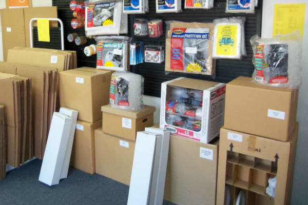 Storage boxes for sale at Gude Self Storage
