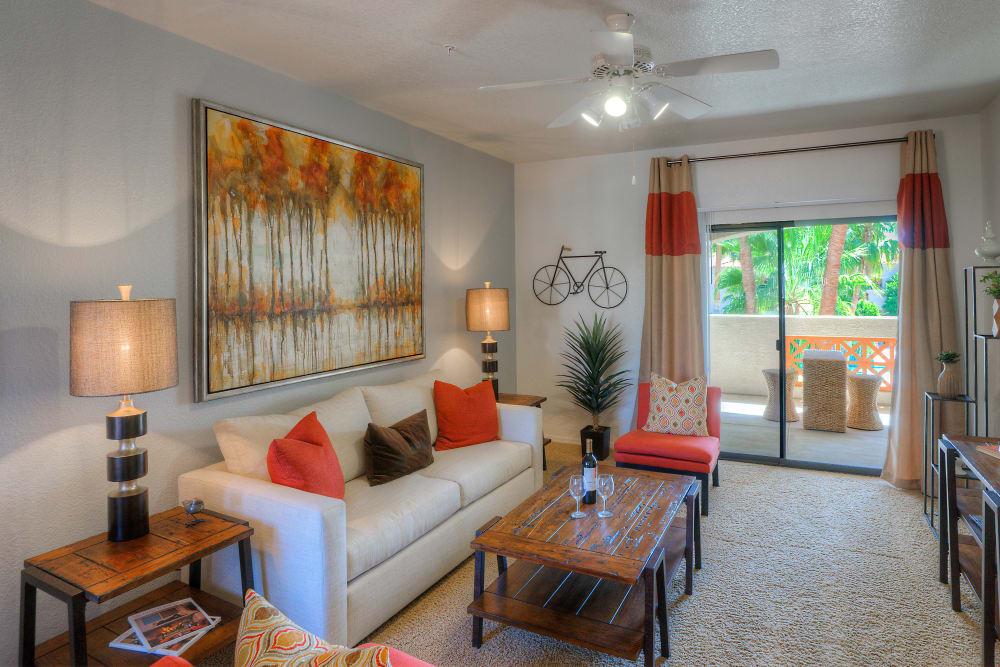 Beautiful open-concept floor plan in model home at San Prado in Glendale, Arizona
