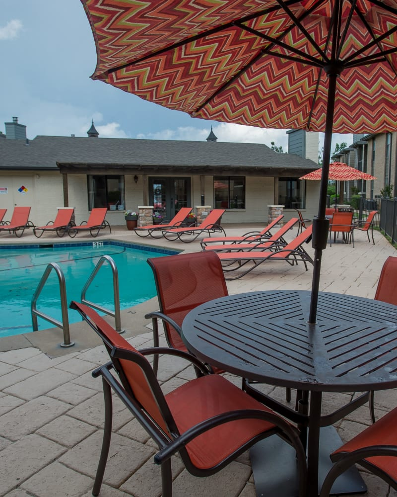 Resort style pool at Cimarron Pointe Apartments in Oklahoma City, Oklahoma