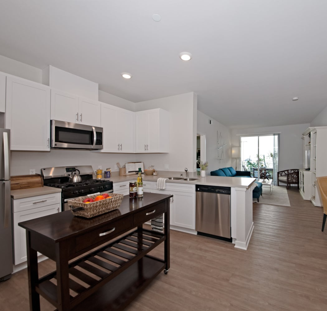 Spacious, open-concept floor plan in model home at IMT Sherman Circle in Van Nuys, California