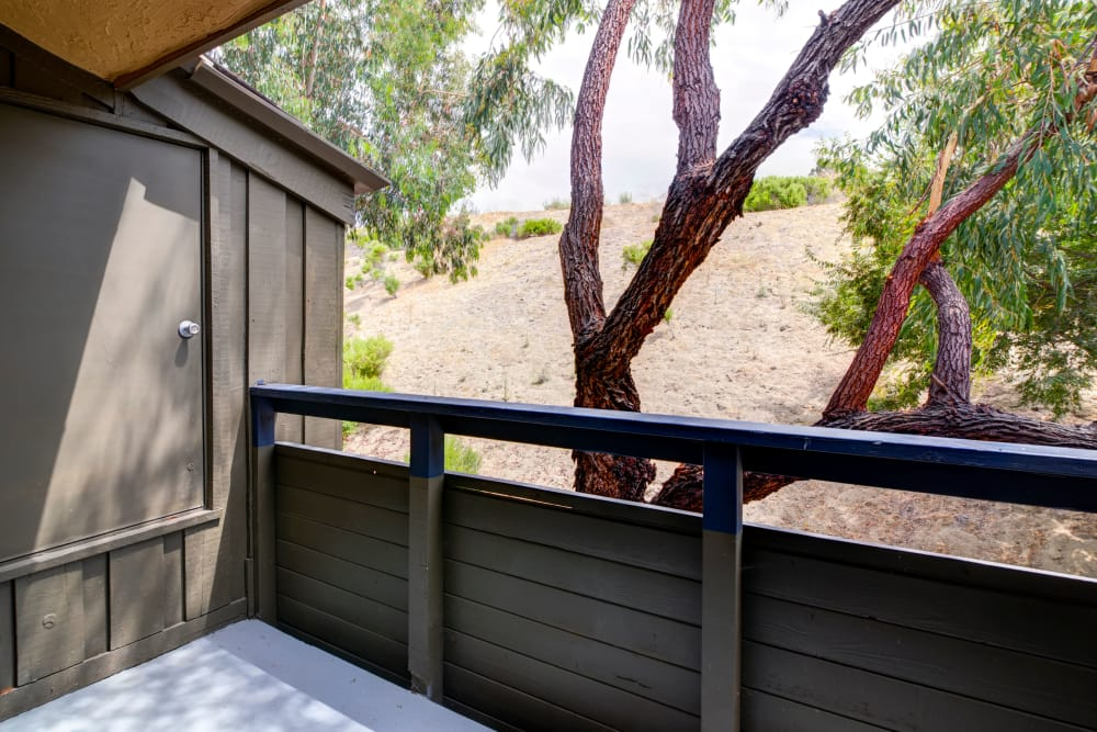 Balcony with storage at Presidio at Rancho Del Oro in Oceanside, California