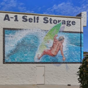 A mural at San Diego, California at A-1 Self Storage