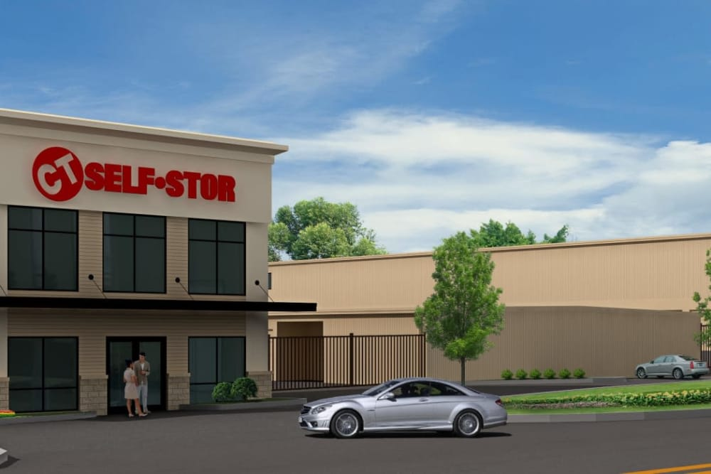 Exterior of CT SELF STOR in Bloomfield