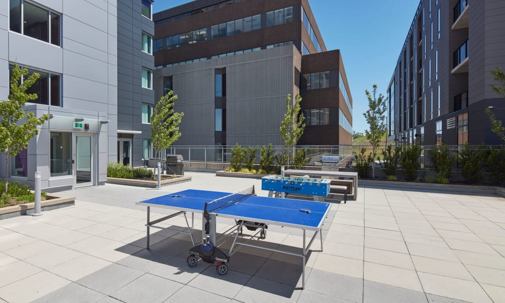 Ping pong table outdoors at 19Twenty Apartments in Halifax, Nova Scotia
