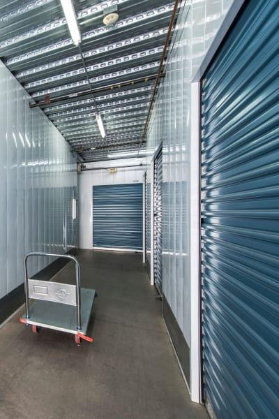 Storage units inside of Carlsbad Self Storage in Carlsbad, California