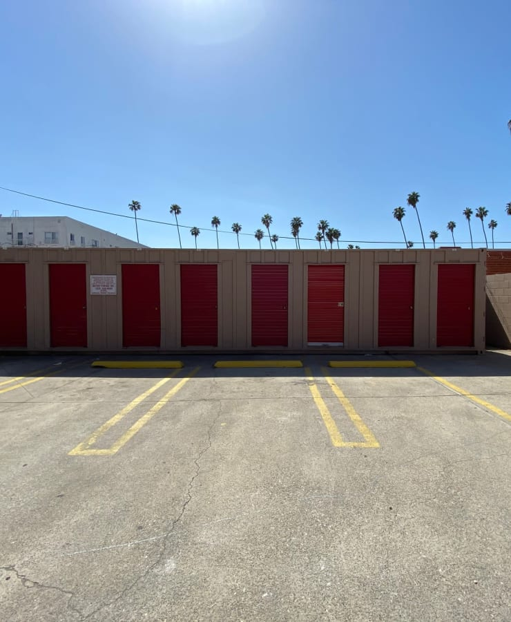 Outdoor units at StorQuest Self Storage in Los Angeles, California