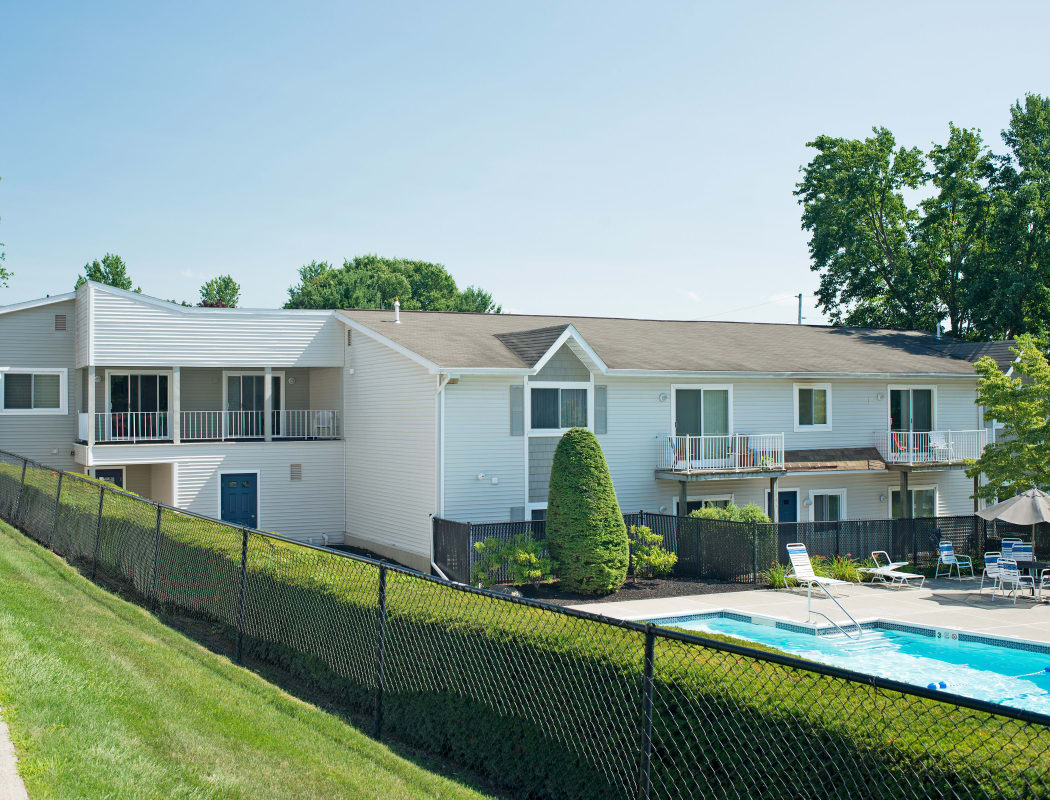 Exterior View Swimming pool at Horizon Ridge Apartments in East Greenbush, NY