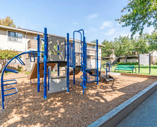 Playground at Parkside Commons Apartments in San Leandro