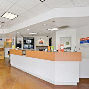 The front desk at A-1 Self Storage in Lakeside, California