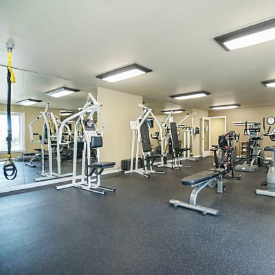 Fitness center available at Sunset Summit Apartments!
